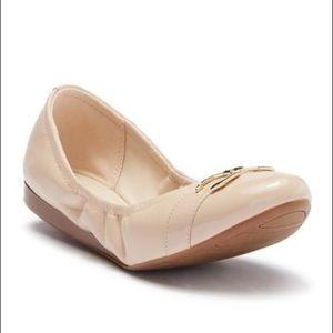 Cole Haan Terrin Leather Ballet Flat SZ 8 Nude